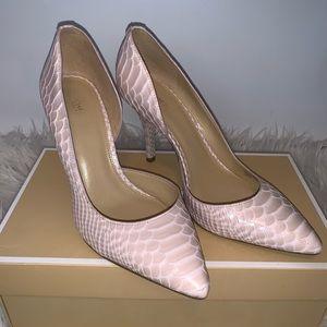 Michael Kors Soft Pink Snakeskin Print Heels